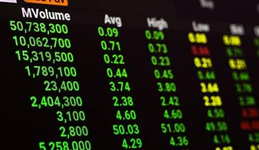 Valuta handel: Höga volymer på grafen