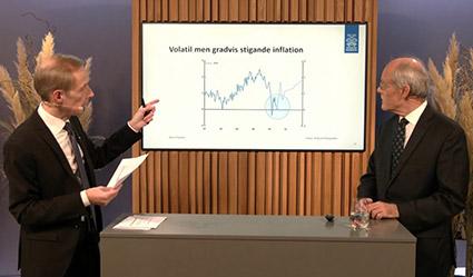Volantil stigande inflation